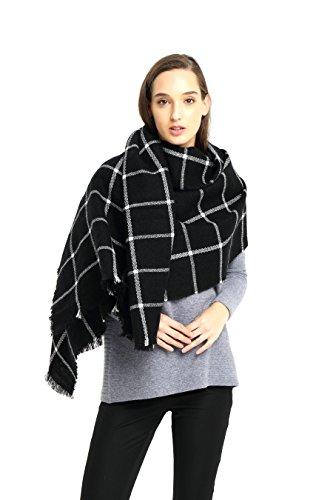 Damen Oversized Herbst Winter klassische Kariert Schal lange weich Wraps grosse Schal Topkundenservice