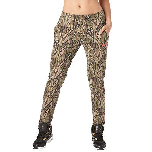 Zumba Fitness Damen Women's Breathable Sweatpants Trousers, Army Green, M (Zumba Hose Grün)
