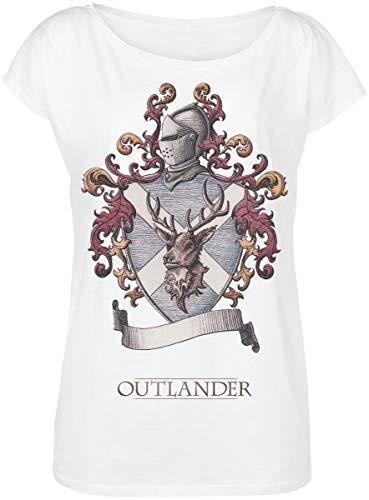 emp outlander Outlander Lallybroch Girl-Shirt weiß L