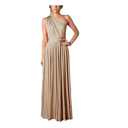 Hanomes Damen Kleider,Damen Mode Einfarbig Tunika Kleid Elegant Ballkleid Hoch Partykleid Sexy...