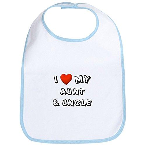 CafePress - I Love My Aunt & Uncle - Cute Cloth Baby Bib, Toddler Bib