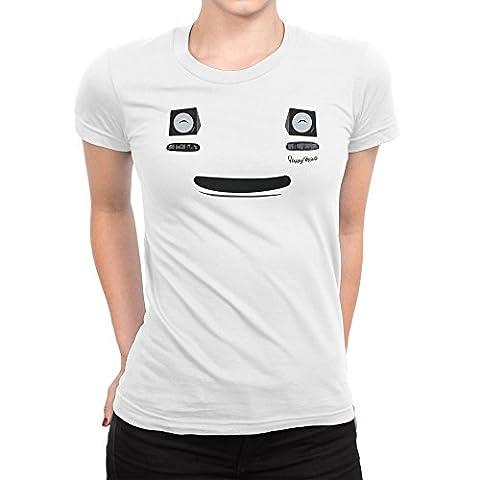 Mazda MX5 Miata Smile Face Funny Femme T-shirt XXL