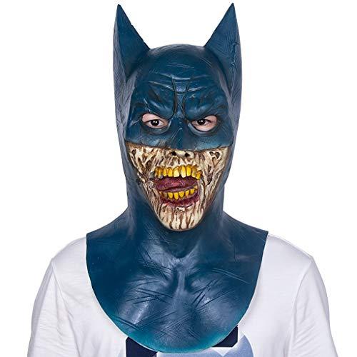 YKQ WS Halloween Latex Maske Vampir Bat Scary Dress up, Thema Party Performance Kostüme, Szene Requisiten