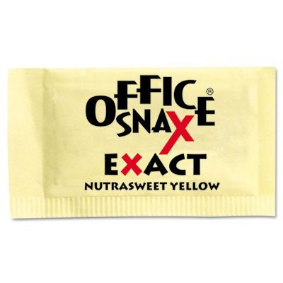 office-snax-00062-nutrasweet-yellow-sweetener-2000-packets-carton