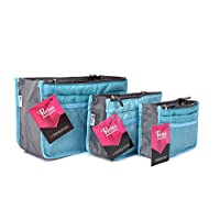Periea - Pack of 3 Handbag Organisers - Chelsy (Small, Medium and Large) - Bright Blue
