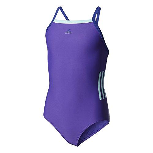 adidas 3-Streifen Badeanzug Mädchen, Eneink/Mysink/Eneaqu, 140 EU Preisvergleich