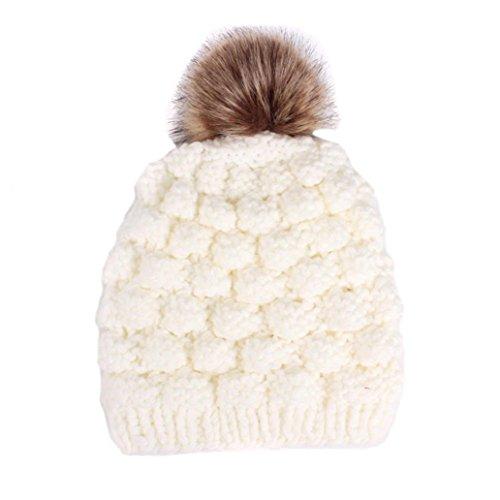 POachers Cappello da donna con berretto invernale da donna bianca