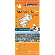Carte Pays de la Loire Michelin 2017