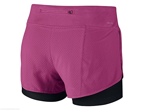 NIKE NIKE jambe robe Ted Rival 2 en 1 Short pour femme, Mixte, Beinkleid Perforated Rival 2 In 1 Shorts Women pink