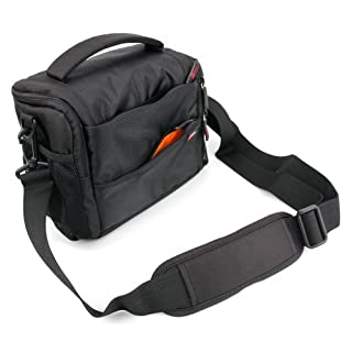 DURAGADGET Shock-Absorbing & Water-Resistant Carry Bag in Black & Orange Compatible with the AccuBuddy Buddy X 12x26