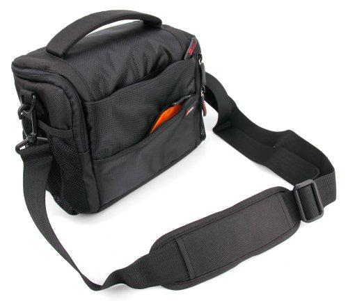 Schwarze, weich gepolsterte Schultertasche für FUJIFILM X-T20 | FUJIFILM Instax Square SQ10 Kameras (Square Schultertasche)