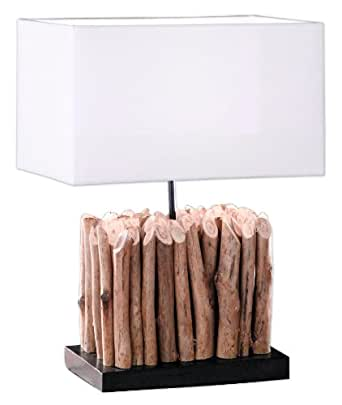 Honsel 91151 Lampe de Table 60 W E27 Bois Flottant Nature