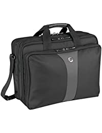 "Wenger 600655 LEGACY 17"" Triple-Gusset Laptop Case, Black/Grey, 19 Litres"
