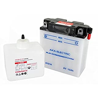 AKA Electric Batterie 6V 12Ah AKA (mit Säure) - für Simson S50, S51, S70, S53, S83, SR50, SR80 - MZ ES125, ES150, TS125, TS150, TS250 - IWL Troll