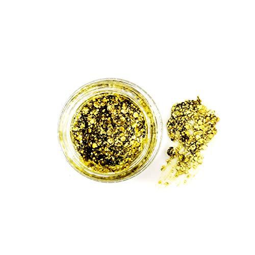 Kosmetik-Festival Glitzer-Gele - Instant-Glitzer-Fix für Gesicht, Körper & Bärte (Gold)