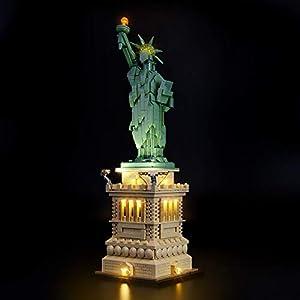 Briksmax Kit di Illuminazione a Led Per Architecture Statua della Libertà, Compatibile con il Modello Lego 21042… 1 LEGO