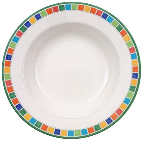 Villeroy & Boch Twist Alea Caro Assiette creuse, 24 cm, Porcelaine Premium, Blanc/Multicolore