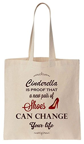 Little Princess Is Proof That A New Pair Of Shoes Can Change Your Life Cotton Canvas Tote Bag (Dress Frauen Cave Fancy)