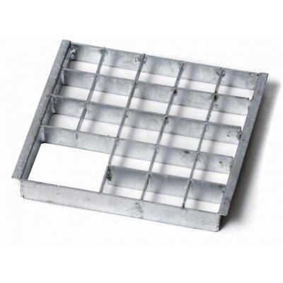 Metall-Rost Einsatzstück, 20x20 cm -