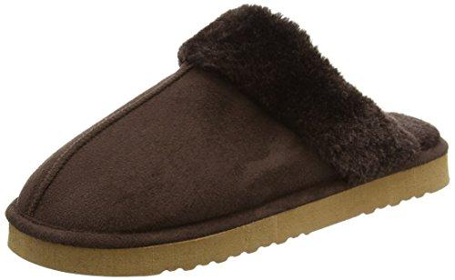 Dunlop - Zapatillas de estar por casa para mujer, color marrón, talla 41.5