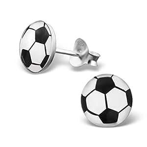 EURO 2016 Bunte Ohrstecker mit Fußball-Entwurf Sterling Silber Fussball