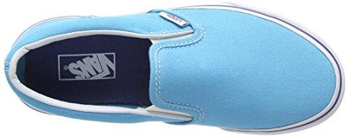 Vans Classic Slip-on, Baskets Basses mixte enfant Bleu - Blau (cyan blue/true FRY)