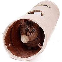 Chat Tunnel Jouets avec 2 Trous A Explorer 120x25cm