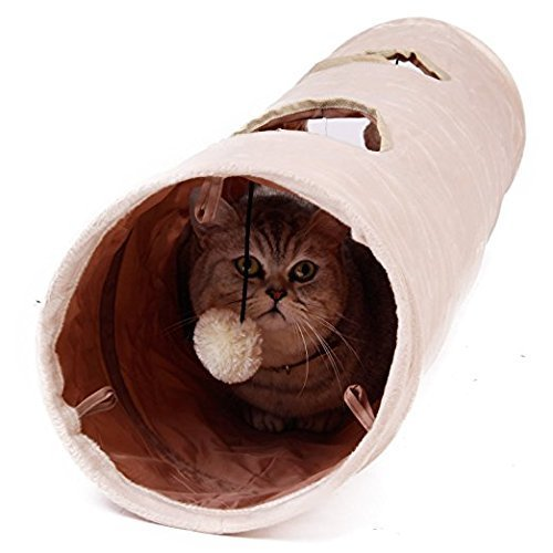 Giochi-per-GattiGiochi-Tunnel-Gatto-Giocattolo-del-Piccoli-Animali-120x25cm