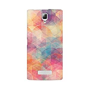 Mobicture Geometric Circles Premium Printed High Quality Polycarbonate Hard Back Case Cover for Lenovo A2010 With Edge to Edge Printing