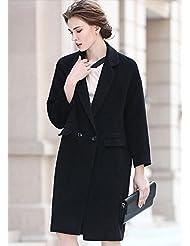 YRF Manteau d'automne. Manteau de couleur unie. Polaire manches longues trench-coat. Manteau de laine. Manteau des dames