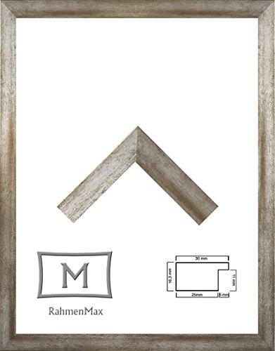 Morena Holz Werkstoff Bilderrahmen 24 x 32 cm modernes sehr eckiges Profil 32 x 24 cm grosse Farbauswahl jetzt: Vintage Metall mit Kunstglas Antireflex 1 mm