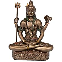 AONA Lord Shiva in Dhyana Mudra Bonded Bronze Height 9 C.m