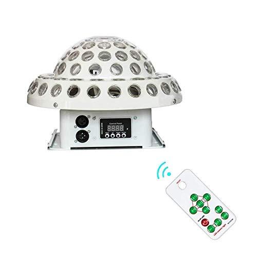 FUTER LED-Disco-Lichter, doppelte Löcher, die Fernsteuerungs- / Ton-aktivierten Tanzparty-Scheinwerfer drehen, Feiertags-Partei KTV-Stab -