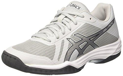 Asics Gel-Tactic, Zapatos de Voleibol Mujer, Gris (Glacier Grey / Silver / Dark Grey), 37.5 EU