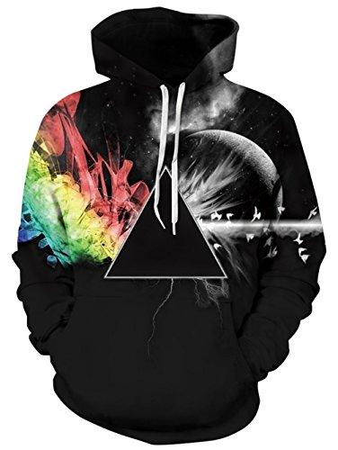 NEWISTAR Unisex 3D Galaxy Hoodie Novelty Personalised Sweatshirt Pullover Hooded Stretch Hoodie S-3XL