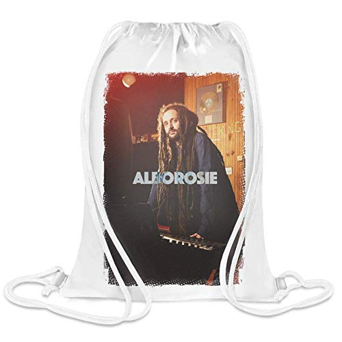 Alborosie Studio Arbeit - Alborosie Studio Work Custom Printed Drawstring Sack | 100% Soft Polyester| 5 Liter Capacity| Adjustable String Closure| The Stylish Bag For Every Day Use| Custom Bags By