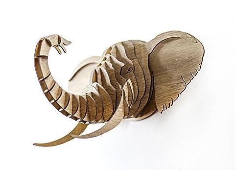 Elefant Trophäe 3D Puzzle Tier Kopf Wand Kunst Umweltfreundliche Dekoration