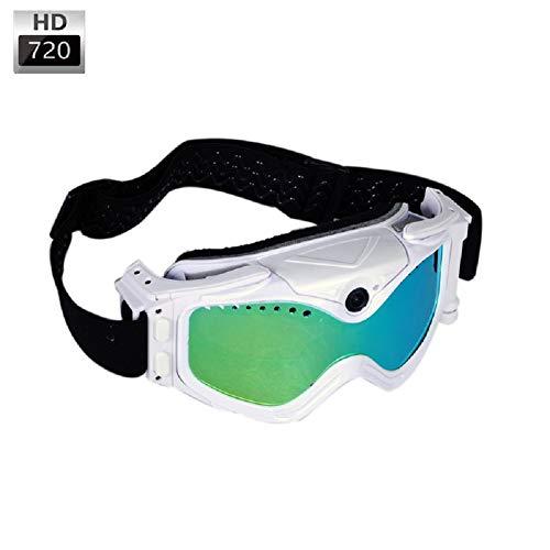 YLOVOW Sonnenbrillen-Kamera, Skibrille 720P 140 ° Weitwinkel HD versteckter Kamerawinkel 0V99140CMOS Sensor für Outdoor-Sport-Videorecorder-Kamera,Addbackupbattery