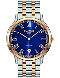 Roamer Men's Quartz Watch with Blue Dial Analogue Display and Two Tone Stainless Steel Bracelet 515810 49 42 50