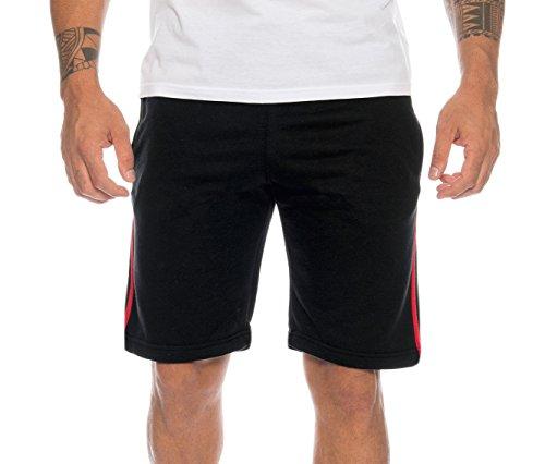 Finchman 96G5 Herren Cotton Sweat Short Kurze Hose Bermuda Black Stripes S