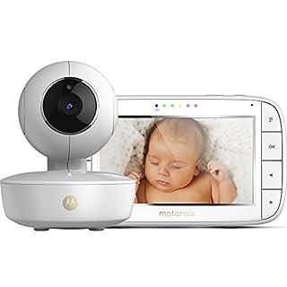 Motorola MBP 50 Video-Babyphone mit Schwenk-, Neige-und Zoomfunktion, 5,0 Zoll Farbdisplay, Nachtsicht, 2-Wege-Audio und Temperatursensor, 300m Reichweite (B01N9R4S5E) | Amazon Products