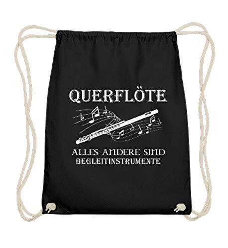 Querflöte Shirt · Musiker · Blasmusik · Musik · Musikinstrument · Musikverein · Hobby · lustig · Spruch · Pulli · Jacke · Hoodie · T-Shirt · Geschenk - Baumwoll Gymsac -37cm-46cm-Schwarz