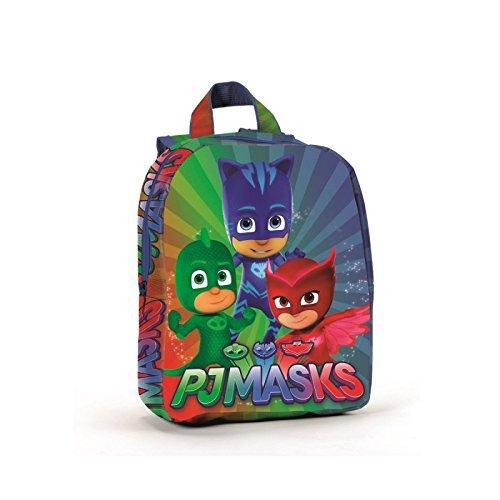 Pj Masks Super Pigiamini A95762 Zaino, 27 Centimetri, Scuola, Poliestere, Multicolore, Gattoboy, Gufetta, Geco