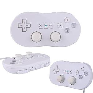 Althemax® Weiß klassischen Game-Controller Shock Pad Remote für Nintendo Wii Konsolen