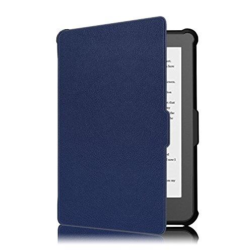 KOBO Klare HD Hülle - Ultra Dünn und Leicht PU Leder Schutzhülle Tasche mit Auto Aufwachen/Schlaf Funktion für KOBO Klare HD Touchscreen E-Book Reader 15,2 cm (6,0 Zoll) 2018 Modell, Dunkelblau