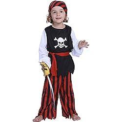 Traje de pirata de alta mar para niño.