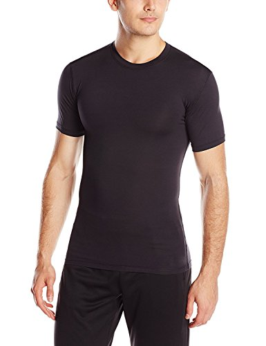 KD Willmax Compression Top Half Sleeve Plain Black Small Athletic Fit Used In Multi Sports Cycling, Cricket, Football, Badminton, Gym, Fitness & Other Outdoor Inner Wear  available at amazon for Rs.449