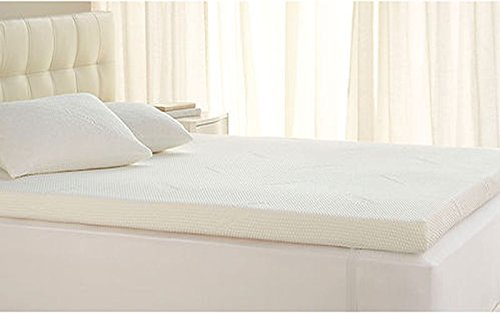 Linenwalas Super Soft Memory Foam Queen Size Mattress Topper/Padding With Soft Designer Enclosure- 60'X78'x2'-White