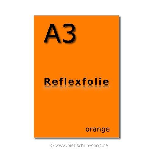 Orafol Reflexfolie A3, orange, reflektierend, selbstklebend