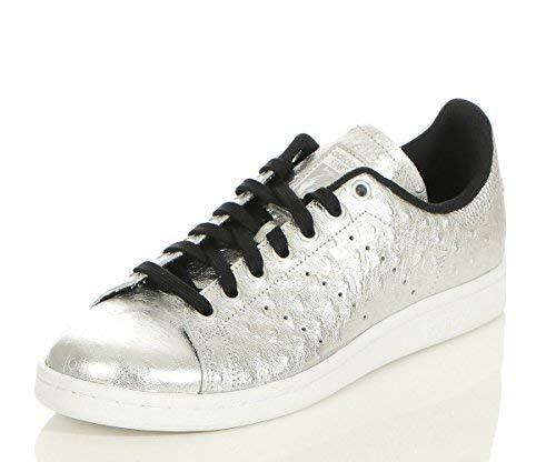 adidas Originals Stan Smith Schuhe Echtleder-Sneaker Turnschuhe Silber AQ4706, Größenauswahl:41 1/3 -
